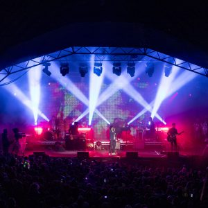 Texas headline at Party At The Palace Music Festival in Linlithgow Palace grounds on Sunday12th August 2018.